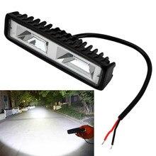 Reflektory LED 12-24V dla Auto motocykl ciężarówka łódź przyczepa do ciągnika Offroad lampa do pracy 36W LED światło robocze reflektor