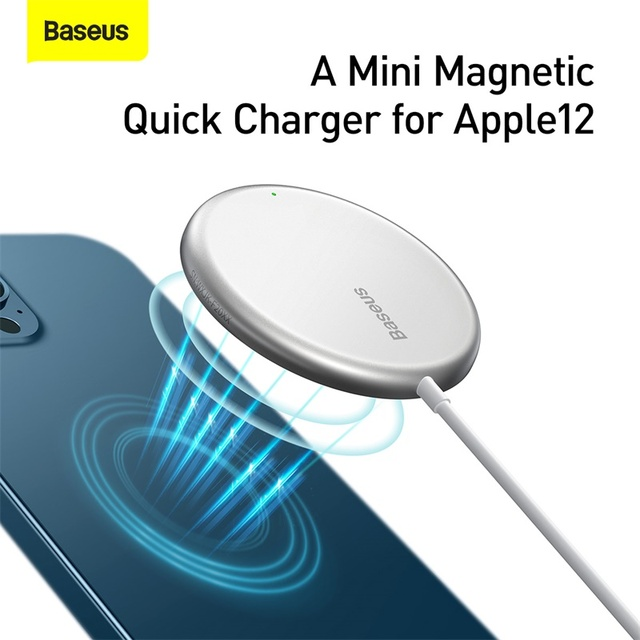 Baseus Magnetic Wireless Charger For iPhone 12 Pro Max Mini Qi 15W PD Fast Wireless Charging Charger Induction Pad For iP Xiaomi|Wireless Chargers|   -