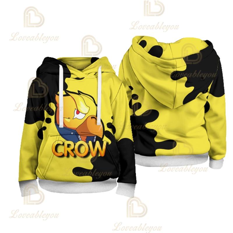 Game Crow Leon Kids Cool Trend Youth Children Spring Summer Hoodies Cotton Sweatshirt Colt Cosplay Costumes