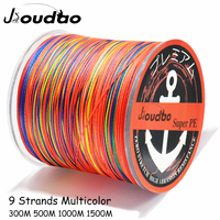 Jioudao Angelschnur W9 300M 500M 1000M 1500M 9 Stränge Mehrfarbig Geflochtene Angelschnur Multifilament PE linie 20LB 200LB-in Angelschnüre aus Sport und Unterhaltung bei