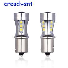 цена на Nanoshine 2 PCS ba15s led 1156 SMD 3030 car reverse light LED P21W S25 super bright vehicle auto tail lamp DRL white 12v 24v