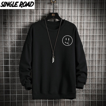 SingleRoad Mens Crewneck Sweatshirt Men 2020 Autumn Oversized Japanese Streetwear Hip Hop Black Hoodie Men Sweatshirts Hoodies naruto hoodie men japanese streetwear mens hoodies hip hop hoody sweatshirt men hoodies sweatshirts 2019 autumn cartoon hoodies