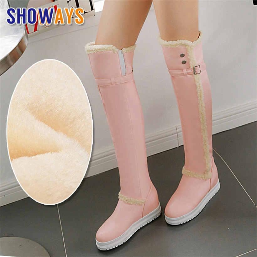 2020 Shoes Women Warm Fur Plush Thigh