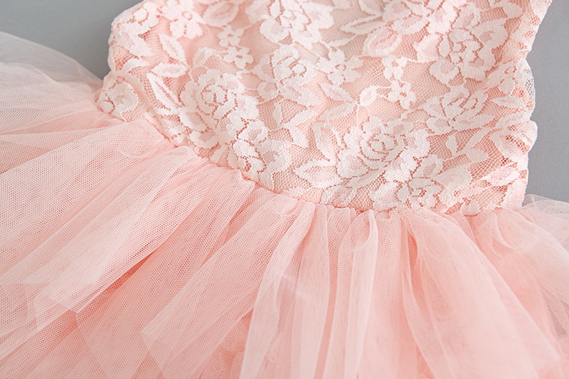 119-9-Lace Tulle Girls Dress