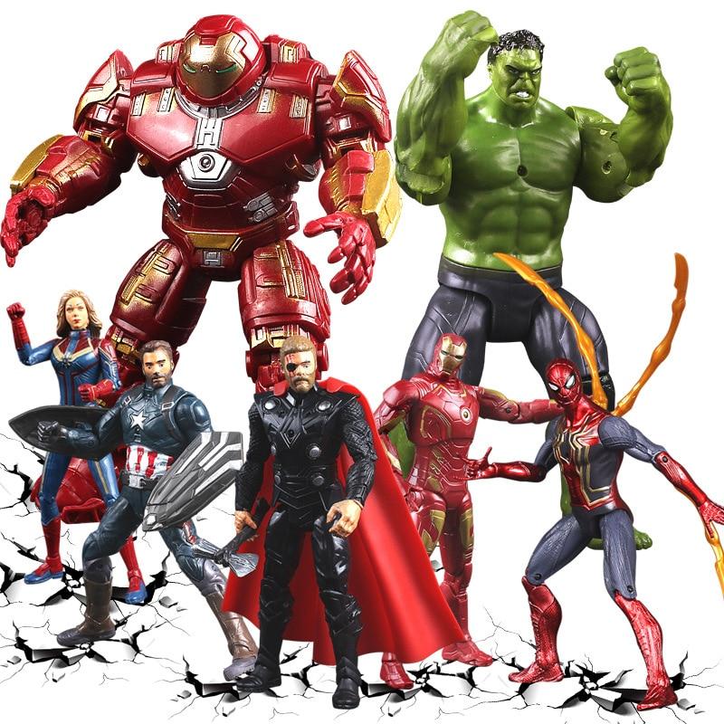 Figurine 16 cm Marvel Avengers Endgame Heroes Thanos,Spiderman,Thor,Iron Man,Cap