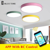 APP control Modern Chandelier For Living Room Dining Room Bedroom Home Chandeliers Black White Yellow Green Blue  home lighting