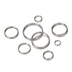 50pcs 304 acier inoxydable porte-clés blanc porte-clés cercle pour bricolage porte-clés fabrication de bijoux résultats 6-20mm anneau cercles accessoires