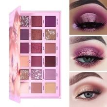UCANBE Veränderbar Rosa Violett Nude Lidschatten Palette Make Up 18 Farben Matte Schimmer Glitter Lidschatten Pulver Wasserdicht Pigment