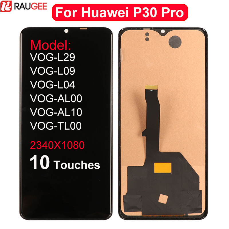 For Huawei <font><b>P30</b></font> Pro <font><b>LCD</b></font> Display 10 Touches Touch Screen Replacement For Huawei <font><b>P30</b></font> Pro P 30 Pro <font><b>LCD</b></font> Display Screen Assembly 6.47