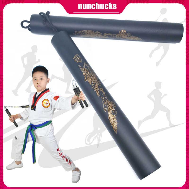 Safety Foam Nunchucks Martial Arts Rope Nunchakus Kungfu Training Practice
