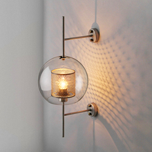 Nordic Loft LED Wall Lamps Modern Glass Shade Scones Light Gold Iron Kitchen Sconce Lamp Living Room Decorative Lights