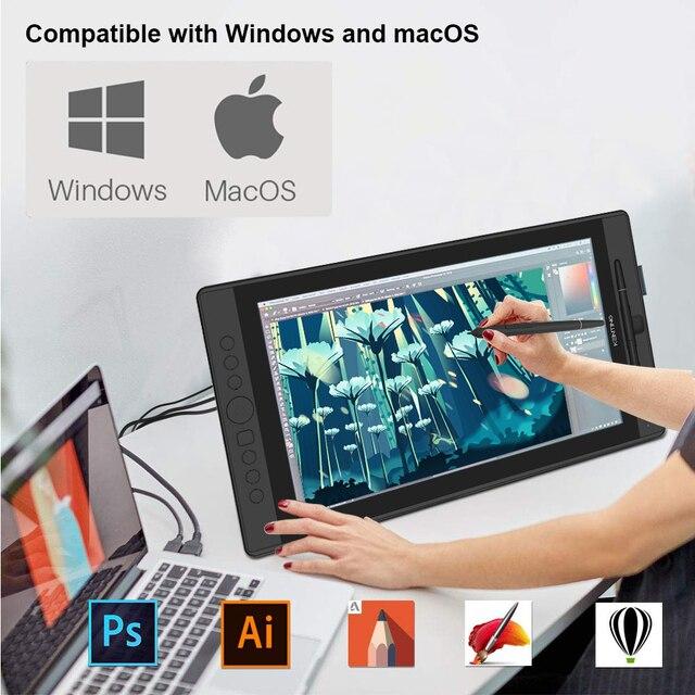 Grafici da 15.6 pollici Monitor Digitale Pen Display Disegno Tablet con Schermo IPS HD Kenting KT16 8192 Livelli con 7 Hot tasti Quadrante