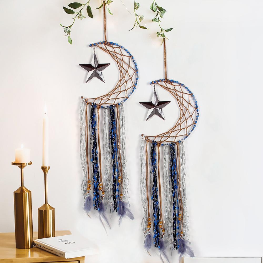 Fengrise Moon Star Cotton Hand-Woven Tapestry Eid Mubarak Ramadan Decor Ramadan Kareem Islamic Muslim Party Supplies Eid Al