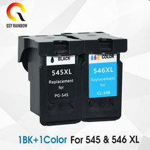 QSYRAINBOW 545XL 546 XL Substituição Do Cartucho Compatível para Canon PG 545 para Pixma PG545 MG3050 2550 2450 2550S 2950 MX495