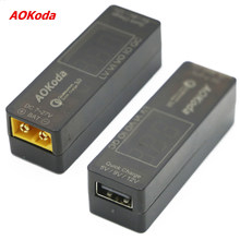 High Quality AOKoda QC3.0 Quick Charger Lipo Battery to USB Power Converter Adapter for Smartphone Tablet PC(China)