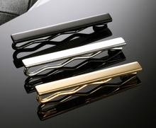 Black Silver Gold Two Tone Stainless Steel Necktie Tie Clip Bar graphic two tone self tie cover ups dress