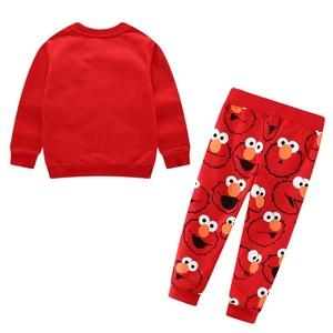 Image 2 - Autumn Winter Cartoon Elmo Printed Cotton Sets Baby Boys Clothing Sets Boys Girls Outfit Long Sleeve Shirt Pant