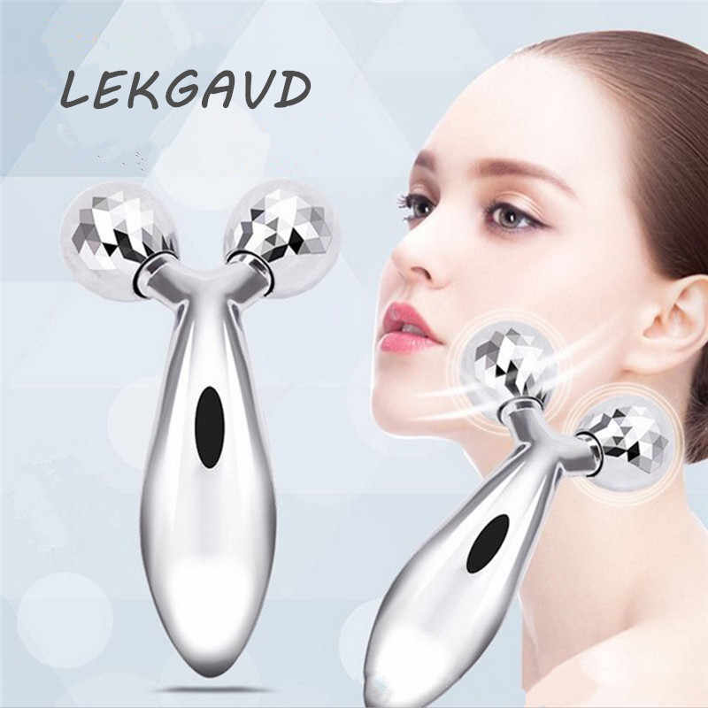 Fashion Face-lifting Instrument Massager Manual Roller Massager Shaping Beauty Facial Massager for Women Face Thinning Care