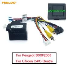 FEELDO 16-pin Auto Android Stereo Kabelbaum Für Peugeot 3008/2008/Citroen C4/C-quatre/C4L/C3 XR/C5/DS6