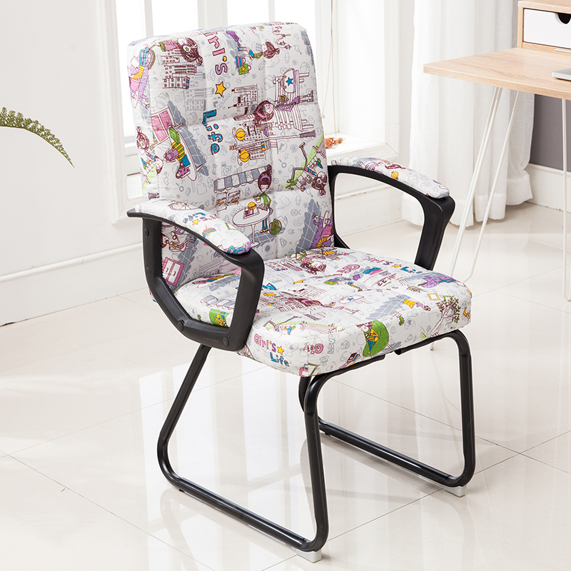 Simple Home Computer Chair Office Chair Staff Chair Conference Chair Student Chair Chess Room Chair Four-legged Bow Chair