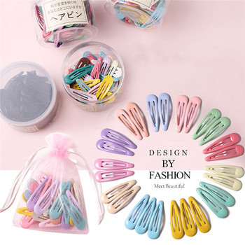 3-40Pcs 5cm Snap Hair Clips for Hair Clip Pins BB Hairpin Color Metal Barrettes for Baby Children Women Girl Styling Accessories 1