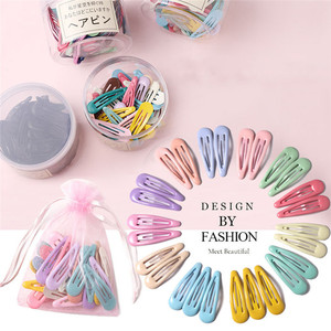 3-40Pcs 5cm Snap Hair Clips for Hair Clip Pins BB Hairpin Color Metal Barrettes for Baby Children Women Girl Styling Accessories