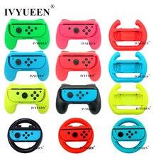 IVYUEEN 2 pcs Update Version Controller Handle Grips for Nintendo Switch NS NX Joy Con Console Joy Cons Holder   Blue / Green