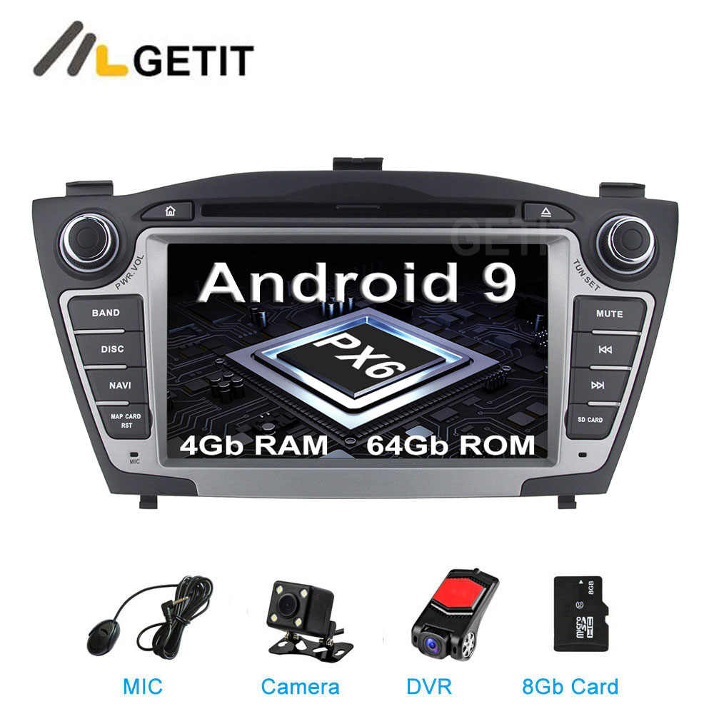 DSP 64G PX6 Android 9 Car Stereo DVD Player GPS Radio per Hyundai IX35 Tucson 2010-2013 con wiFi BT