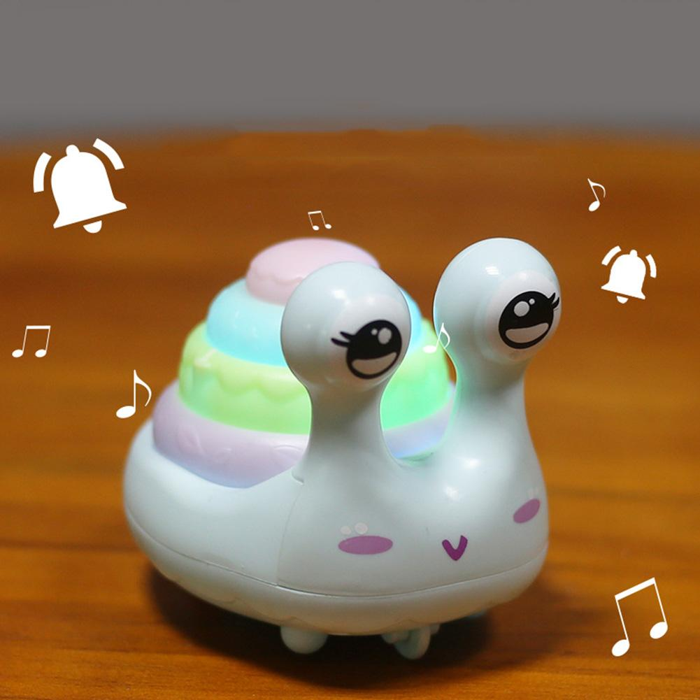 Cartoon Snail Tortoise Animal Press Walking Car with LED Music Educational Kids Toy Baby Electronic Pet Early Learning Toys
