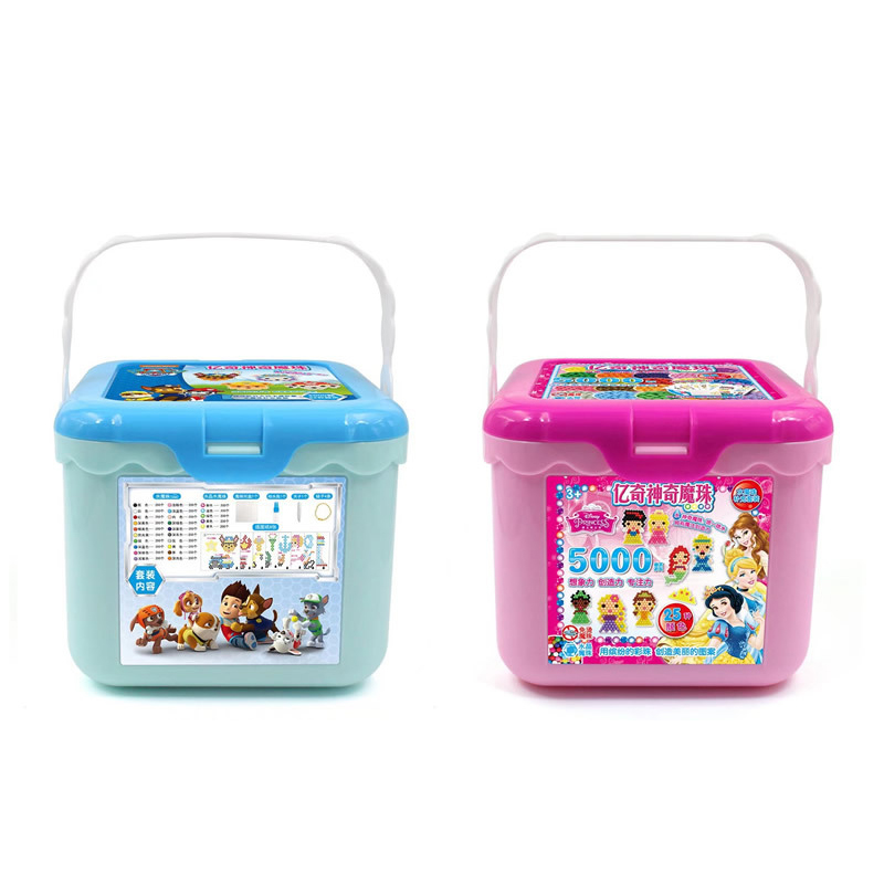 5000pcs Princess 3D Magic Sticky Kids Beads Toy Beads Educational DIY Arts And Crafts For Children Gifts