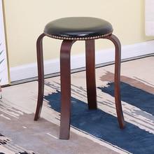 Деревянная скамейка в северную Европу, стул для стола, маленький круглый стул из цельного дерева, скамейка, Домашний Деревянный для взрослых, скамейка