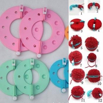 8 шт., 4 размера, пушистый шар, тканевый помпон, вязаный ткацкий станок, набор для детей, сделай сам, принадлежности для рукоделия