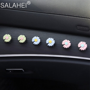 Image 1 - Car Hook Front Row Car Door Multi function Daisy Pattern Organizer Clip Invisible Small Hook Cartoon Cute Auto Goods Accessories