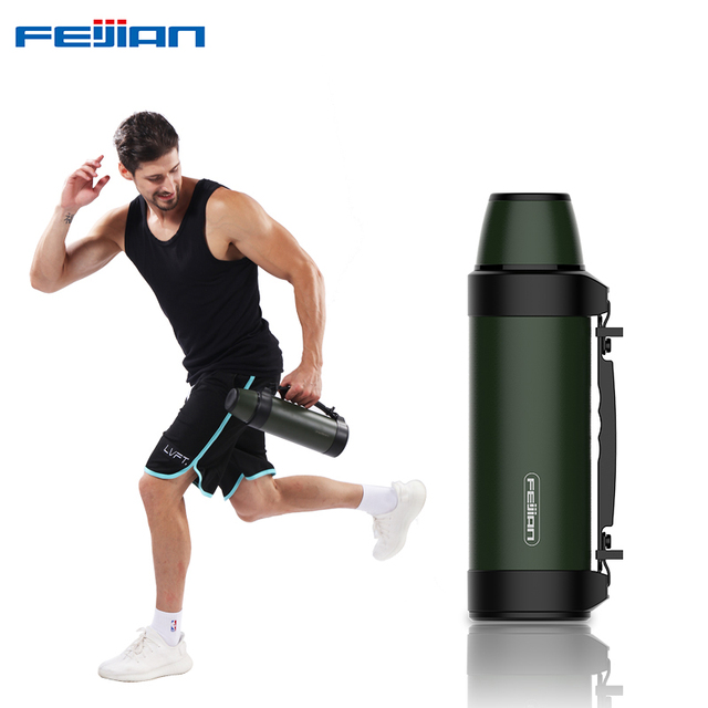 FEIJIAN 1.2L/1.5L thermos bottle Vacuum Flasks thermo cup Outdoor Travel coffee mug Thermal Insulation Performance over 24 hours