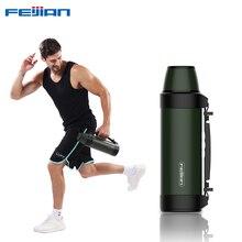 Feijian 1.2l/1.5l garrafa térmica garrafas de vácuo copo térmico ao ar livre do curso caneca de café isolamento térmico desempenho sobre 24 horas
