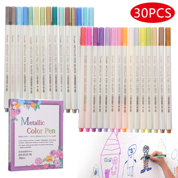30 Colors/set Acrylic Pens Metal Paint Marker Pens Waterproof Marker Pens Set Dries Quickly Permanent Paint Markers 6mm acrylic paint marker pens permanent non toxic acid free quick dry water based paint pen