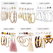 Винтажные большие золотые серьги-кольца 17 км для женщин, большие круглые серьги с жемчугом и сердцем, набор сережек Brincos, массивное ювелирное изделие