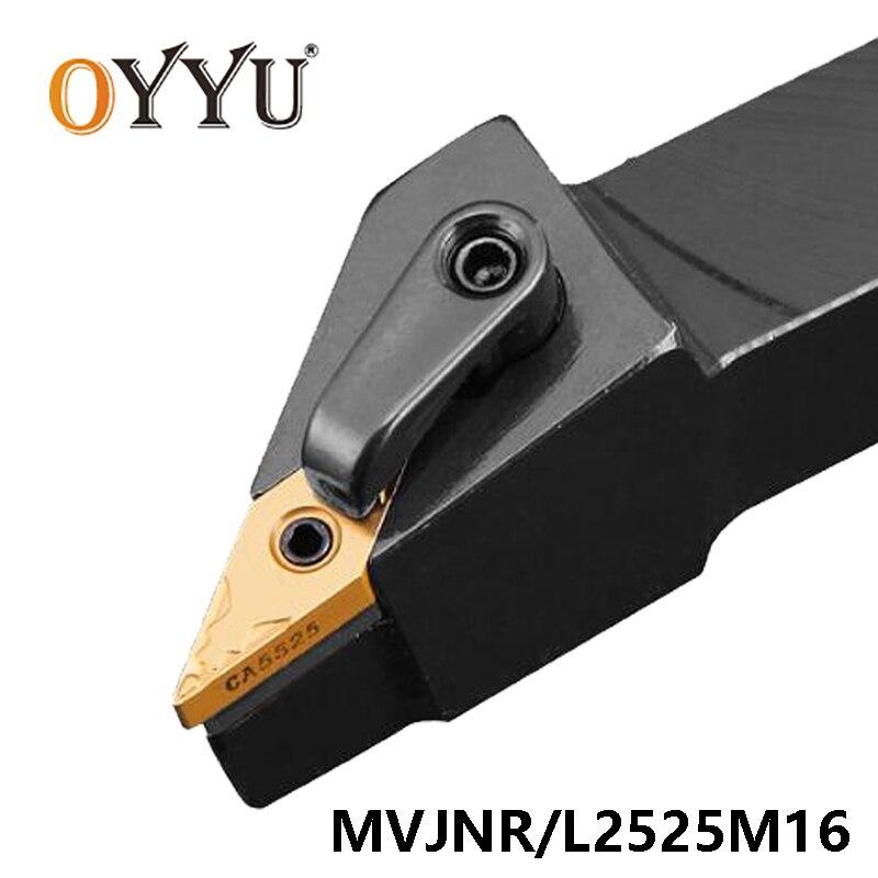OYYU MVJNR MVJNR2525 MVJNR2525M16 MVJNL2525M16 External Lathe Turning Tool Holder Carbide Insert VNMG160404 Boring Bar CNC Lathe