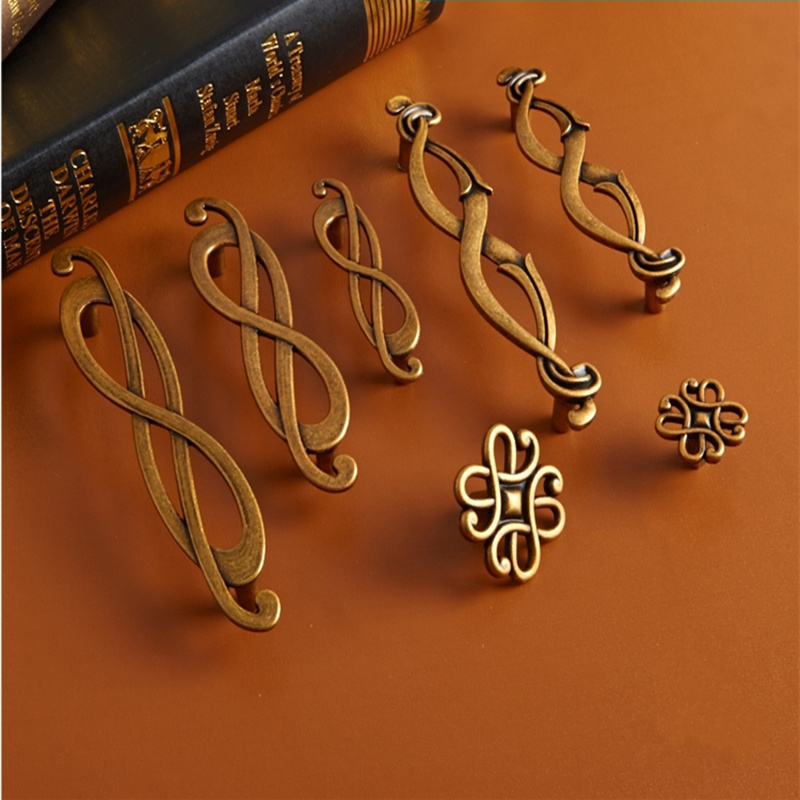 Musical Symbol European Wardrobe Handle Bronze Cabinet Shoe Wardrobe Closet Drawer Knob Pull Furniture Hardware Home Decor