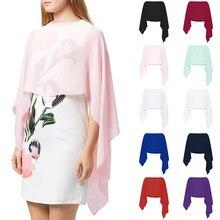 Bridal-Shawl Chiffon Pink Formal Cloak Wedding-Cape Casual-Wrap Women Summer Soft