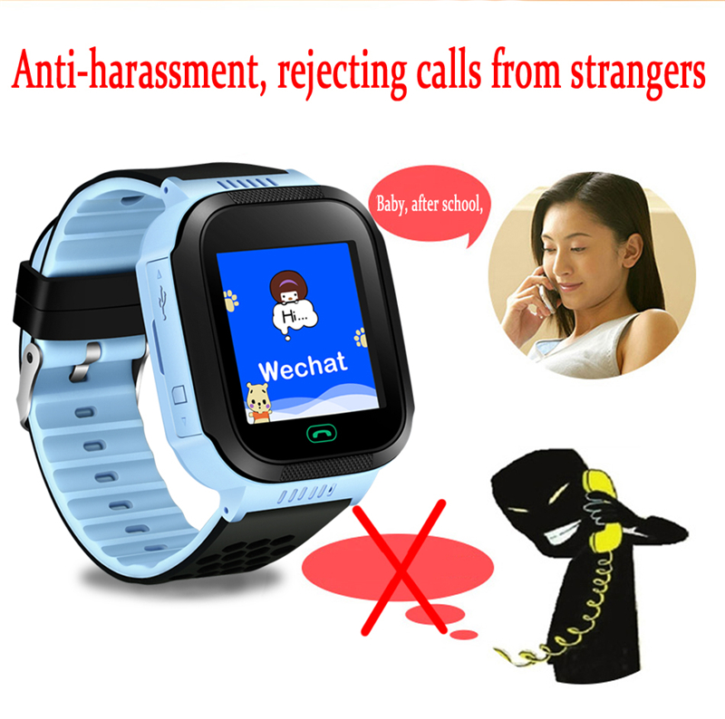 NEW Children's Smart Watch Connection APP Can Locate SOS Security Call Children's Smart Watch With Flashlight In Real Time 2020