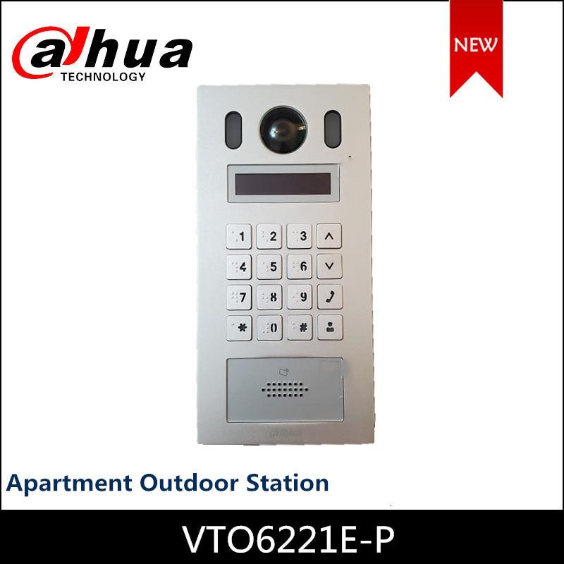 Dahua-VTO6221E-P de estación al aire libre para apartamento, cámara CMOS de 2MP, placa de aleación de aluminio, H.264, micrófono omnidireccional para Intercoms