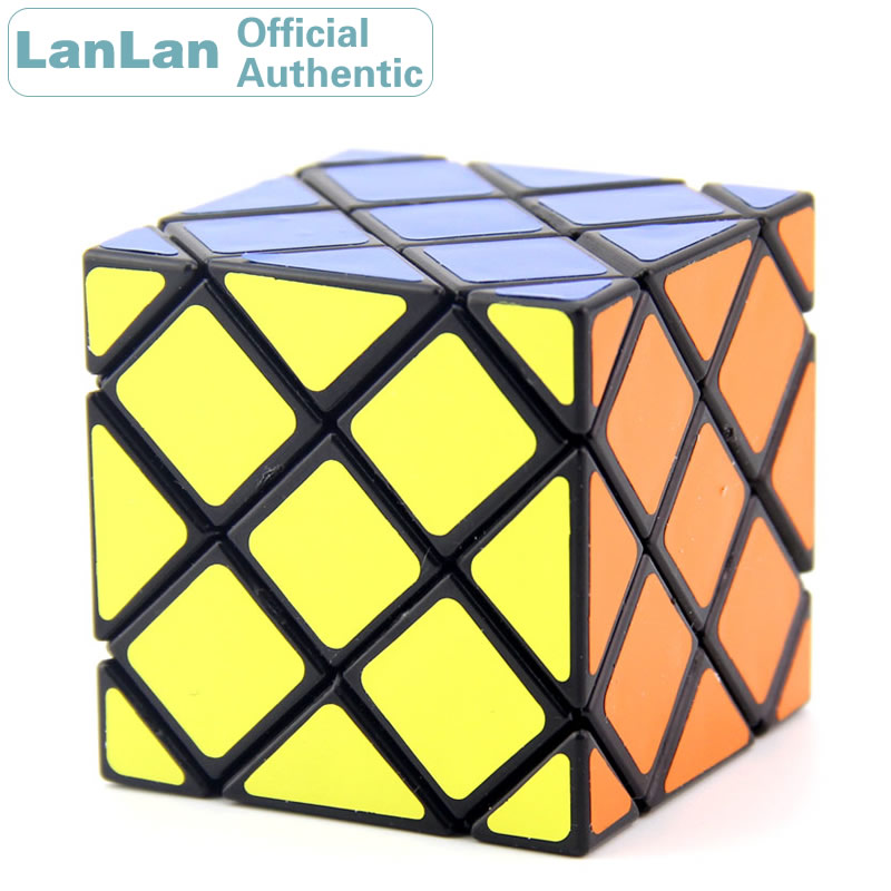 LanLan 8 Axis 6 Surface Hexahedron Skewbed Magic Cube Professional Speed Puzzle Antistress Educational Toys For Children