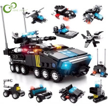 10 in 1 City Police Station Car Building Blocks Legoingly City SWAT Team Truck House Blocks Technic Diy Toy For Boy Children GYH(China)