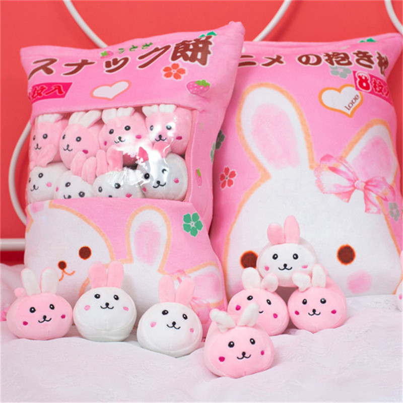 Lovely Totoro Hamster Rabbit Duck Plush Toys Stuffed Soft Cute Animals Pillow Pudding Dolls For Children Kids Fashion Gifts