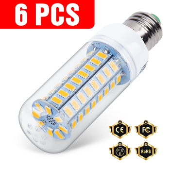 6PCS E27 LED Lamp E14 Corn Bulb Lamp LED Light GU10 220V LED Bulb 3W 5W 7W 9W 12W 15W G9 Ampoule B22 Chandelier Lighting 240V r39 r63 r80 r50 led spot light reflector bulb white shell lamp 3w 5w 7w 9w 12w 85 265v ac220v e27 e14 for offices lighting