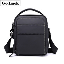 купить GO-LUCK Brand Genuine Leather Casual Men's Crossbody Shoulder Bag Men Cowhide Messenger Bags Male Top-Handle Handbag Tote Pack дешево