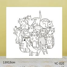 AZSG Clown cat Clear Stamps For DIY Scrapbooking/Card Making/Album Decorative Rubber Stamp Crafts