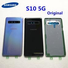 Original Für Samsung Galaxy S10 5G G977 G977F 5G version Batterie abdeckung Zurück abdeckung S10 Hinten glas bildschirm hinten Glas fall