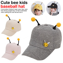 2019 New Cute Baby Hats Boys Girls Kids Bee Style Hat Two antenna Baseball Cap Sunhat casquette enfant